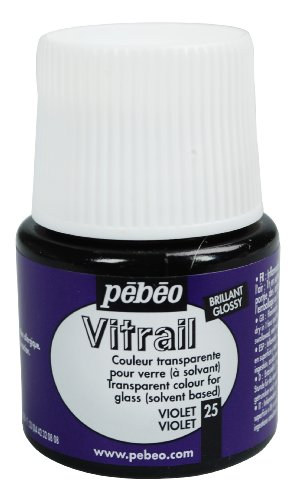 Pebeo vitrail-glasmalfarbe-transparent-violet - 45 ml