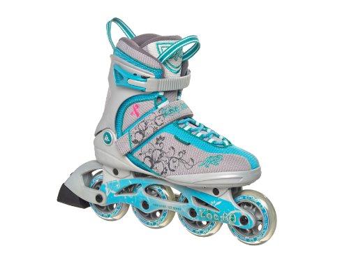 K2 Damen Fitness Inline Skate Zoe W, beige-grau-türkis, 8, 3040835.1.1.080