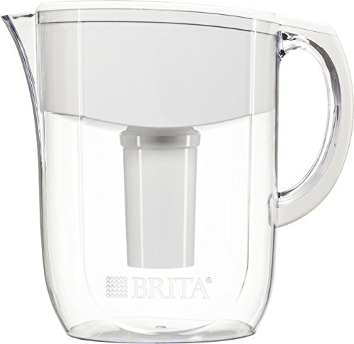 Brita Pitchers 10 Cup Everyday Water Pitcher with 1 Filter, Large, White by Brita Pitchers