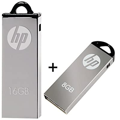 Combo Of 2pcs HP V220W 8GB And 16GB USB 2.0 Pendrive - Only from M.P.Enterprises