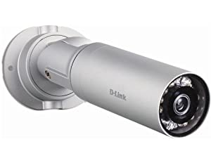 D-Link Systems, Inc. DCS-7010L HD Mini Bullet Outdoor Network Camera, White
