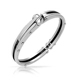 Bling Jewelry Secret Shades Obsession Steel Handcuff Mens Bracelet