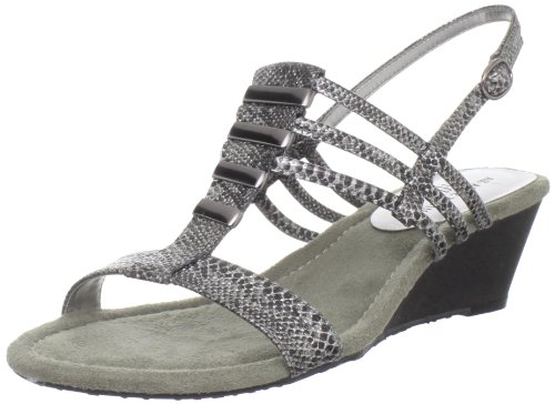 AK Anne Klein Women's Frink Wedge Sandal,Pewter Multi,8.5 M US
