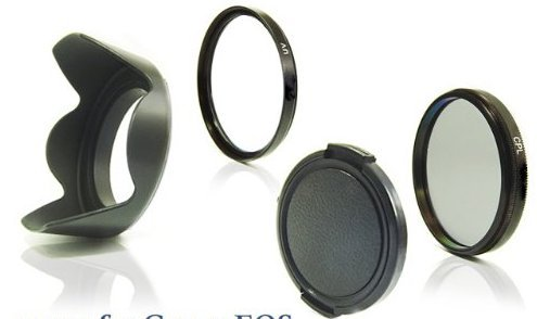 52MM DIGITAL CAMERA LENS CAP HOOD SAFETY FILTER CPL POLARIZER FOR NIKON 18-55 CANON 50MM PENTAX 18-55MM  available at amazon for Rs.649