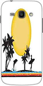 Snoogg tropical illustration Hard Back Case Cover Shield For Samsung Galaxy Ace 3