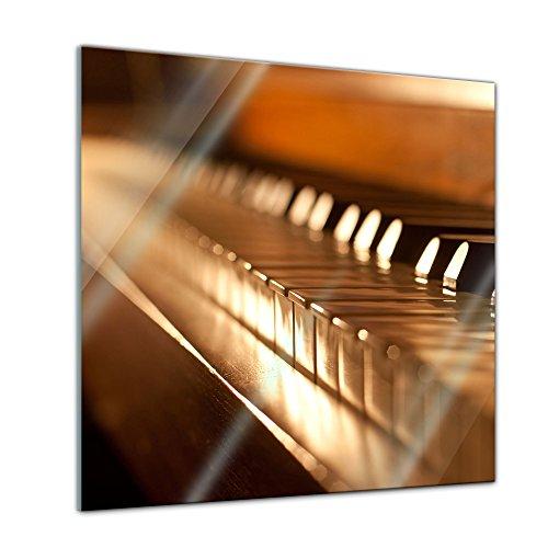 Bilderdepot24-Glasbild-Klavier