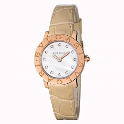 Bulgari Bvlgari Gold and Diamond Ladies Watch BBLP26WGL/12