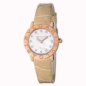 Bulgari Bvlgari Gold and Diamond Ladies Watch BBLP26WGL/12