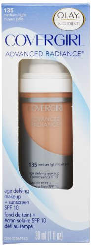 COVERGIRL Advanced Radiance Age Defying Foundation Makeup, Medium ...