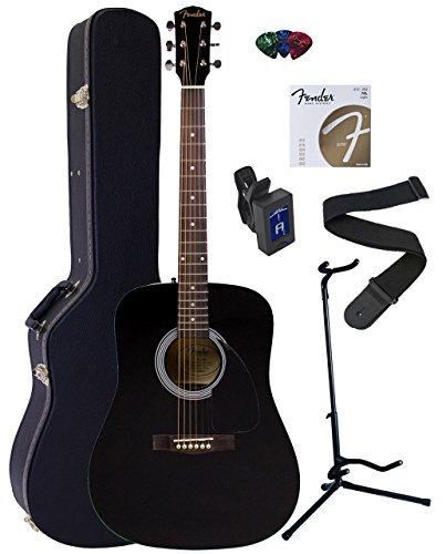 Fender FA-100 Dreadnought Acoustic Guitar Bundle with Hardsh