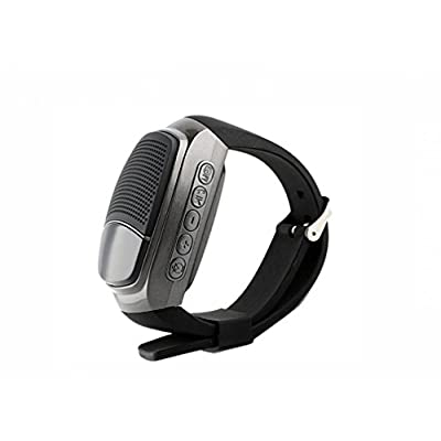 Axxis Wireless Bluetooth Watch Speaker with Mic Support (Black)