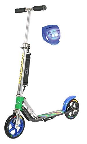 Hudora Scooter / Roller / Cityroller Big Wheel MC / RX 205 mit LENKERLICHT (BRAZIL 14014)