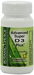 Botanic Choice Advanced Super D3 Plus with Vitamin K2, 30 Count