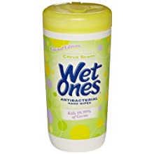Wet Ones 4672 Antibacterial Hand Wipe Canister with Citrus Scent (Case of 12)