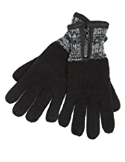 Knitted Zipped Gloves