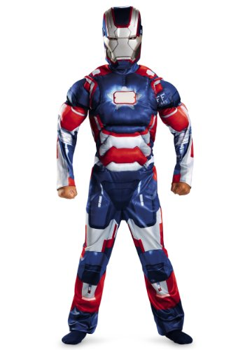 Marvel Iron Man 3 Patriot Boys Classic Muscle Costume, 4-6