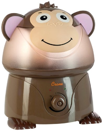 Crane Adorable Ultrasonic Cool Mist Humidifier with 2.1 Gallon Output per Day - Monkey - 1