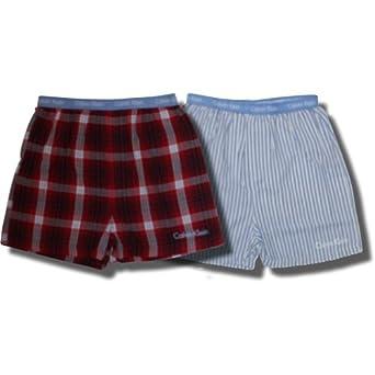 Calvin Klein 2 pack Boxer Shorts Light Blue/Navy/Red for boys - X-Large (16/18)