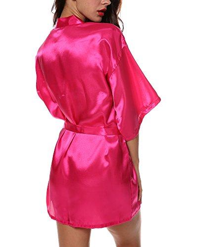 avidlove women 39 s kimono robe satin lounge short style. Black Bedroom Furniture Sets. Home Design Ideas