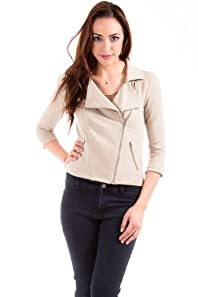 Nikki D Double Breasted Jacket in Heather Beige