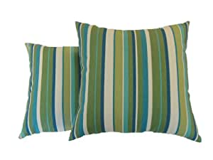 Amazon.com: Newport Layton Home Fashions 2-Pack KE20 Indoor/Outdoor Pillows, Topanga Stripe ...