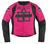 Icon Overlord Type 1 Womens Jacket , Gender: Womens, Apparel Material: Textile, Primary Color: Pink, Size: Md 2822-0436 by NYC Leather Factory Outlet