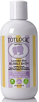TotLogic Sulfate Free Bubble Bath - 8 fl oz | Gentle & Hypoallergenic | Rich in Antioxidants & Botanicals | No Parabens, No Phthalates, No Sulfates, No DEA & PEG, Plant-based