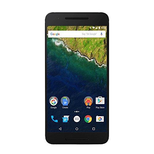 Huawei Nexus 6P smartphone, écran 5,7 pouces, mémoire interne 32 Go, 3 Go RAM, appareil photo 12,3 MP, android 6.0, argenté