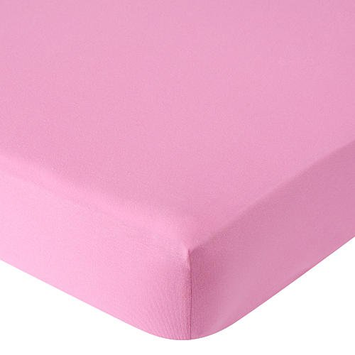 Babies R Us Knit Crib Sheet Dark Pink