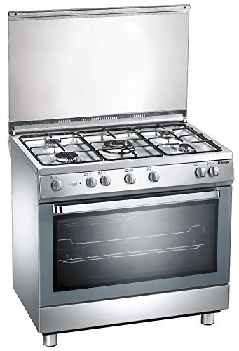 Cucina a gas extralusso Tecnogas Arkè D907XS 90x60cm, 5 fuochi, forno elettrico