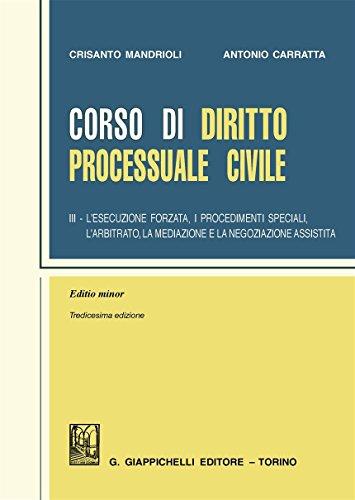Corso di diritto processuale civile. Ediz. minore: 3