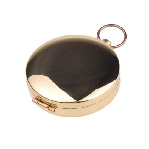 BestDealUSA Outdoor Camping Hiking Portable Brass Pocket Golden Compass Navigation Tool