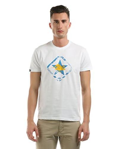 Hot Buttered T-Shirt Manica Corta Green Star [Bianco]