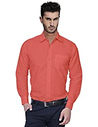Nimegh Light Pink Color Cotton Casual Slim Fit Shirt For Men's
