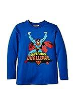 Fantasia Camiseta Manga Larga Superman (Azul Royal)