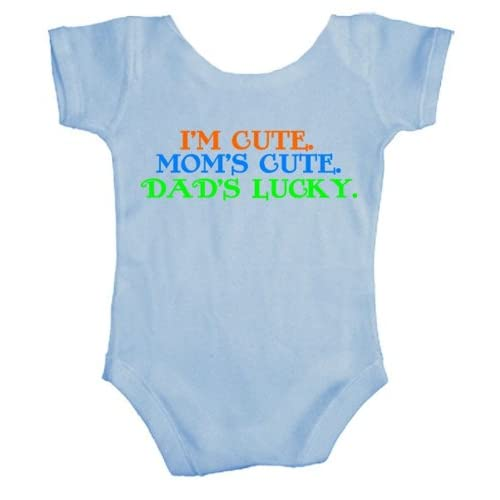 Teeshirtpalace I'm Cute Mom's Cute Dad's Lucky Baby Bodysuit