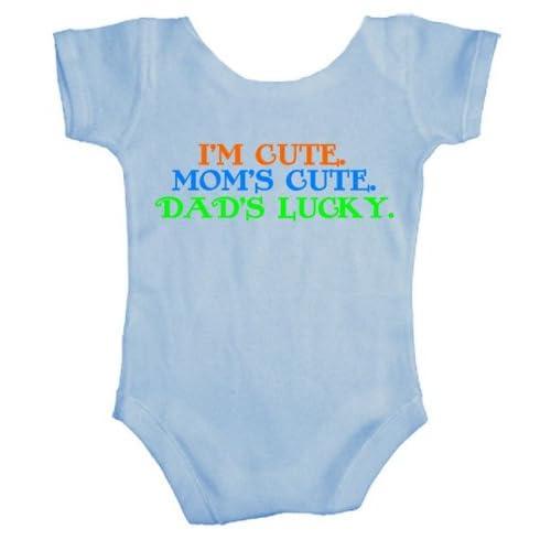 Teeshirtpalace I'm Cute Mom's Cute Dad's Lucky Baby Bodysuit