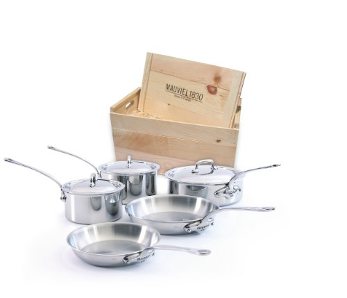 Mauviel M'cook 5210.03wc Crated 8-Piece Set with Cast Stainless Steel Handles