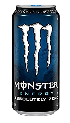 Monster Energy Drink, Absolutely Zero, 16 Ounce (Pack of 24)