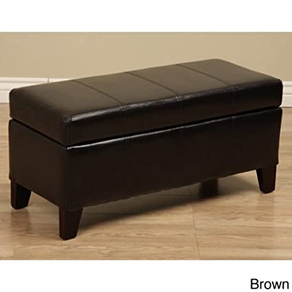 Warehouse Tiffany Ariel Faux Leather Storage Bench / Coffee Table