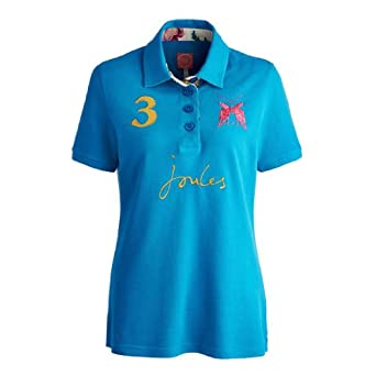 Joules Beaufort Lark Ladies Polo (P) - Blue Diamond - 18