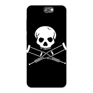 Impressive Danger Black Back Case Cover for HTC One A9