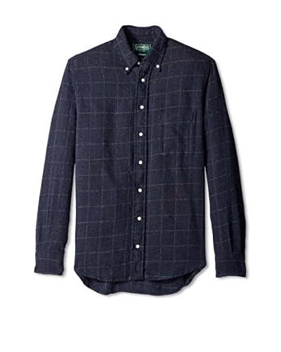 Gitman Vintage Men's Windowpane Button Down Shirt