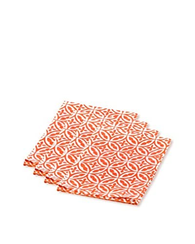 Sobremesa Set of 4 Fez Napkins, Orange