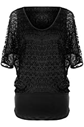 G2 Chic Women's Casual Solid Lace Top
