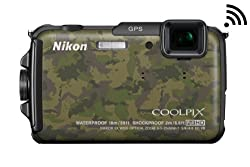 Nikon COOLPIX AW110 Wi-Fi and Waterproof Digital Camera with GPS (Camouflage)
