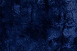 3X5 Rug Fluffy Flokati Shag Solid Navy Blue 3 Inch Thick 3\'3\'X4\'10\