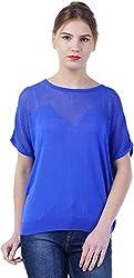 TSAVO Women's Regular Fit Top (1543_BLUE, Blue, X-Large)