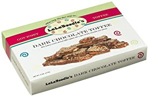 LaLaBoodle's Dark Chocolate Toffee with Almonds and Walnuts, 6-Ounce Boxes