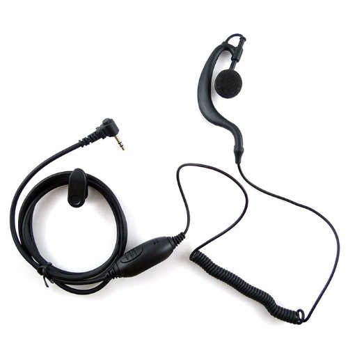 G Shape Earpiece Headset For 1 Pin Motorola Walkie Talkie Radio Sx500 Sx620R Sx700 Sx709R Sx750 Sx800 Sx900 Sx920R Fv200 Fv300 Fv500 Fv600 Fv700 Fv750 Fv800 Etc.